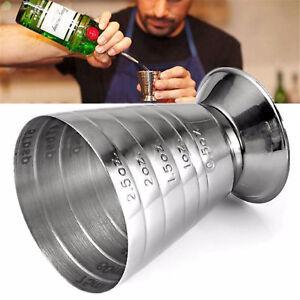75ml-Cocktail-Misurino-JIGGER-DOPPIO-professionale-per-bar-misura-acciaio-BAR