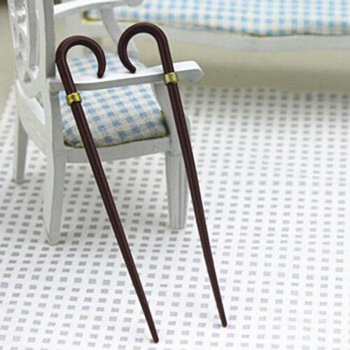 1//12 Dollhouse Miniature Accessories Mini Vintage Simulation Crutch Model TBLUS