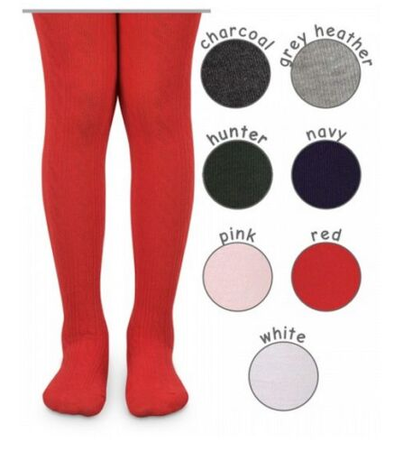 Jefferies Classic CABLE Ribbed Cotton Blend Tights School Uniform Sizes 2Y-14Y