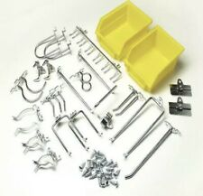 Durahook Locking Pegboard System 26 Piece Kit Hook Amp Bin Wall Storage Organizer