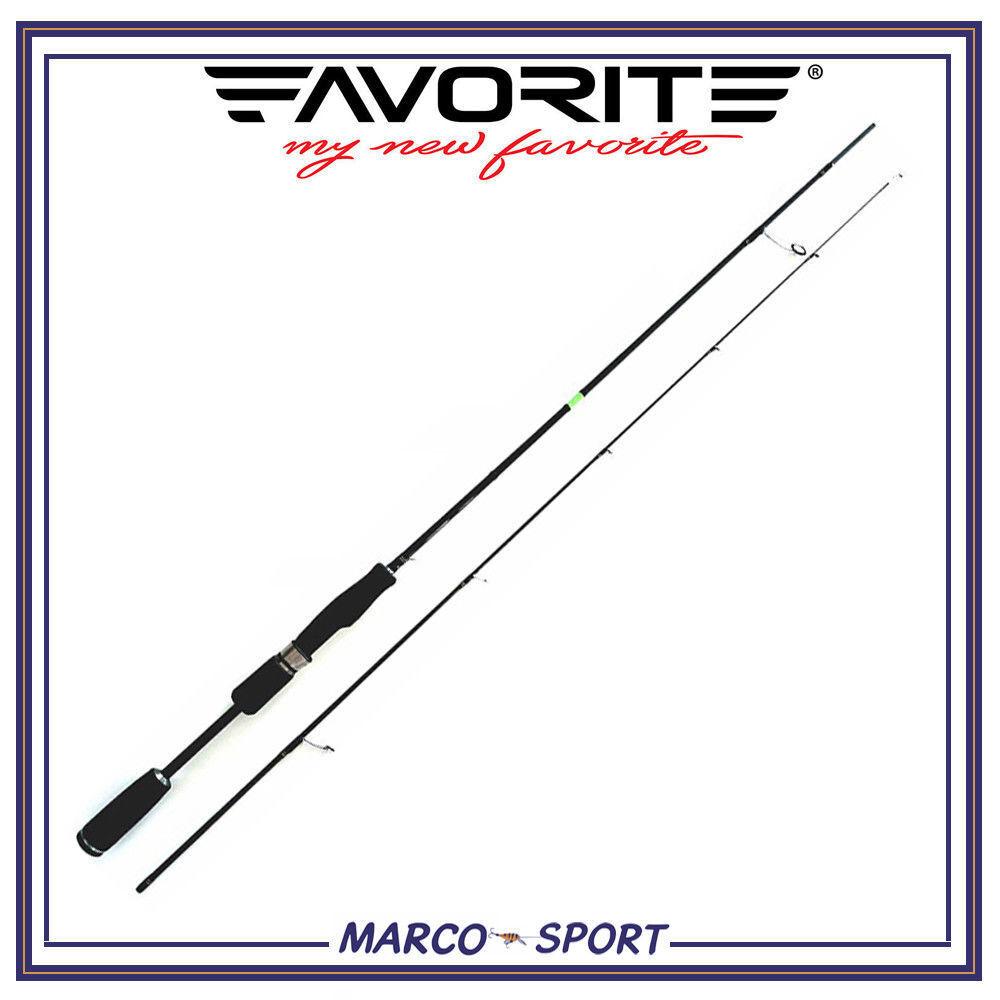 Canna da pesca a Spinning Favorite X1 in carbonio 2 pezzi mare fiume trota lago