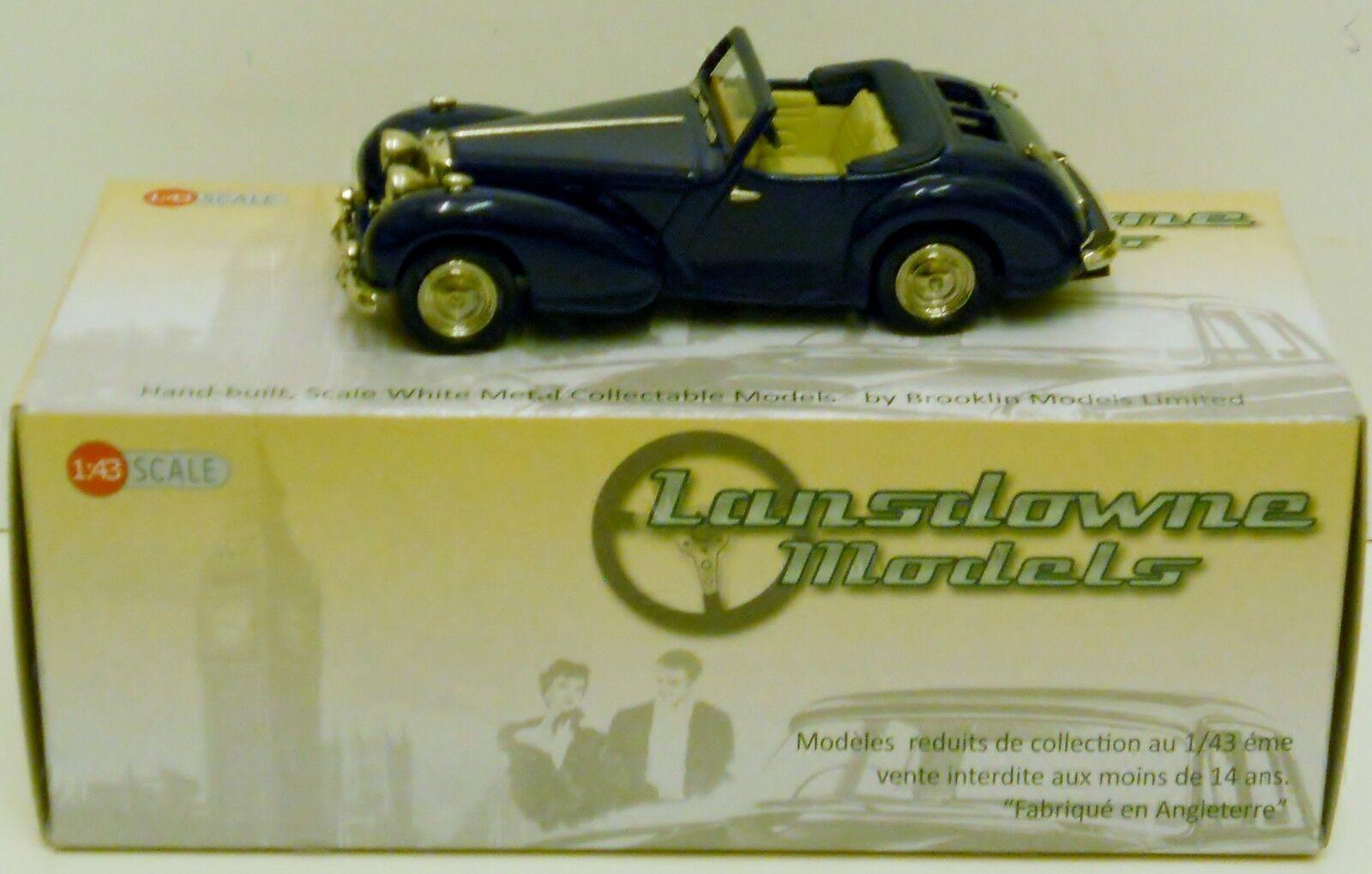 Lansdowne ldm37b - 1949 triumph 2000 roadster - top - down - blau 1 43 druckguss