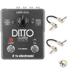 TC Electronic Ditto X2 Looper Guitar/Bass Effect True Bypass Pedal & Patch Cable