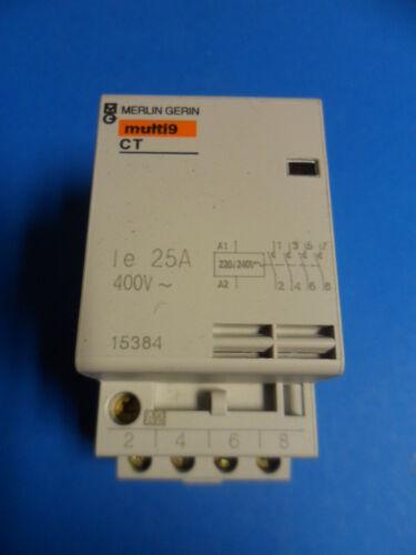 Contacteur 4NO 25A 240V 15384 MERLIN