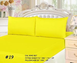 Image Is Loading Tache Cotton Solid Neon Bright Yellow Lemon Fitted