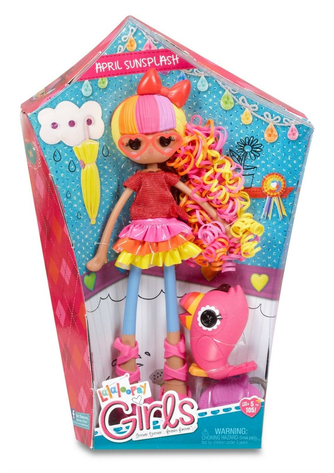 LALALOOPSY GIRLS APRIL SUNSPLASH  BRAND NEW IN BOX