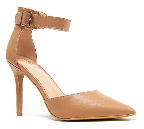 Ankle Strap Stiletto Heels J.Adams Shelly D/'Orsay Pump