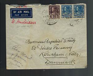 1938 Bangkok Thailand Airmail Cover to Copenhagen Denmark