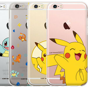 newest 85d38 1824e Details about Genuine Pokemon Clear Jelly Case Galaxy S5 Case Galaxy S4  Case 6 Types Case