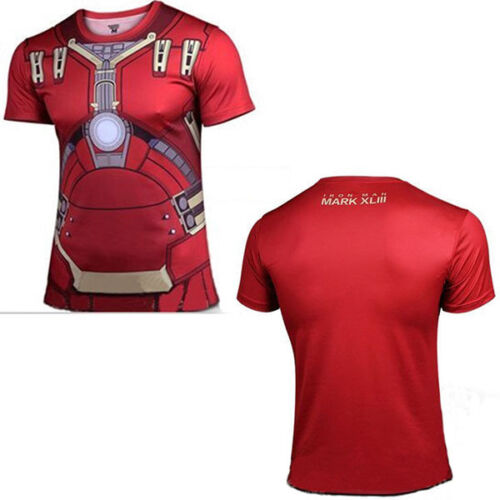 Mens Compression Short Sleeve T-Shirt Gym Sport Fitness Jersey Tops Tee T Shirts