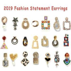New-Fashion-Women-Acrylic-Geometric-Dangle-Drop-Statement-Earrings-Jewelry-Gift