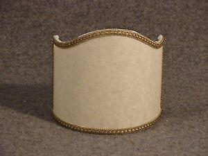 Ventola pergamena ventolina in stoffa con bordino bronzato cm