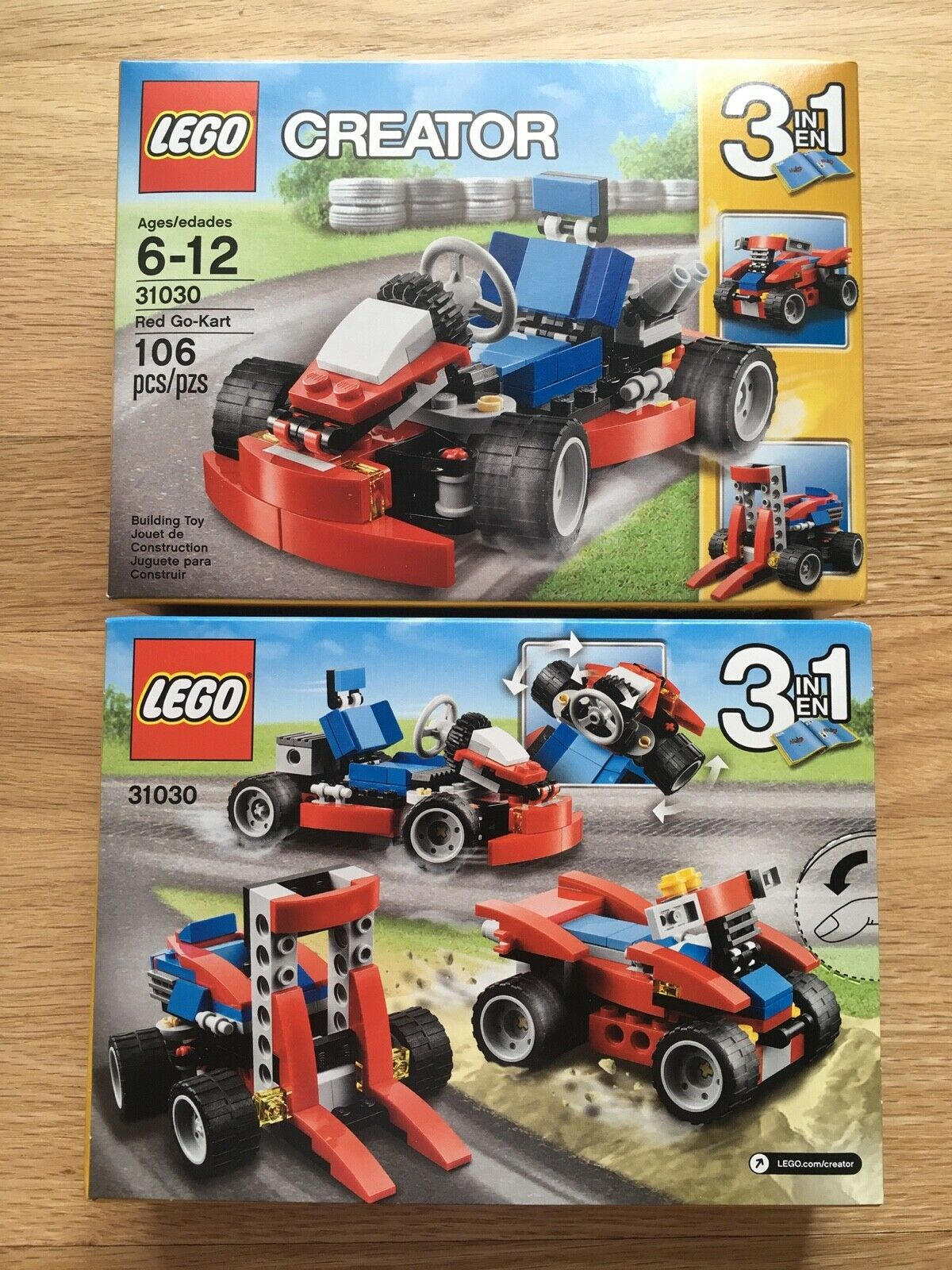 LEGO 31030 CREATOR Red Go-Kart  3-in-1    - Set of 6 boxes - Brand New d25158
