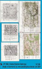 1890 Peddinghaus 1//35 Real Battle Maps of Caen Area WWII 5 maps Printed