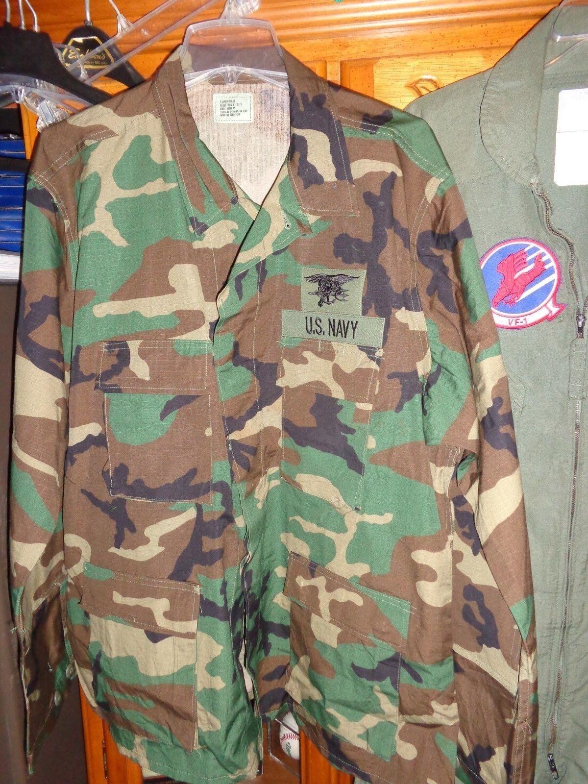 3 COLOR WOODLAND SEAL DESERT STORM TACTICAL Shirt  Coat X LARGE REG XLR NWT