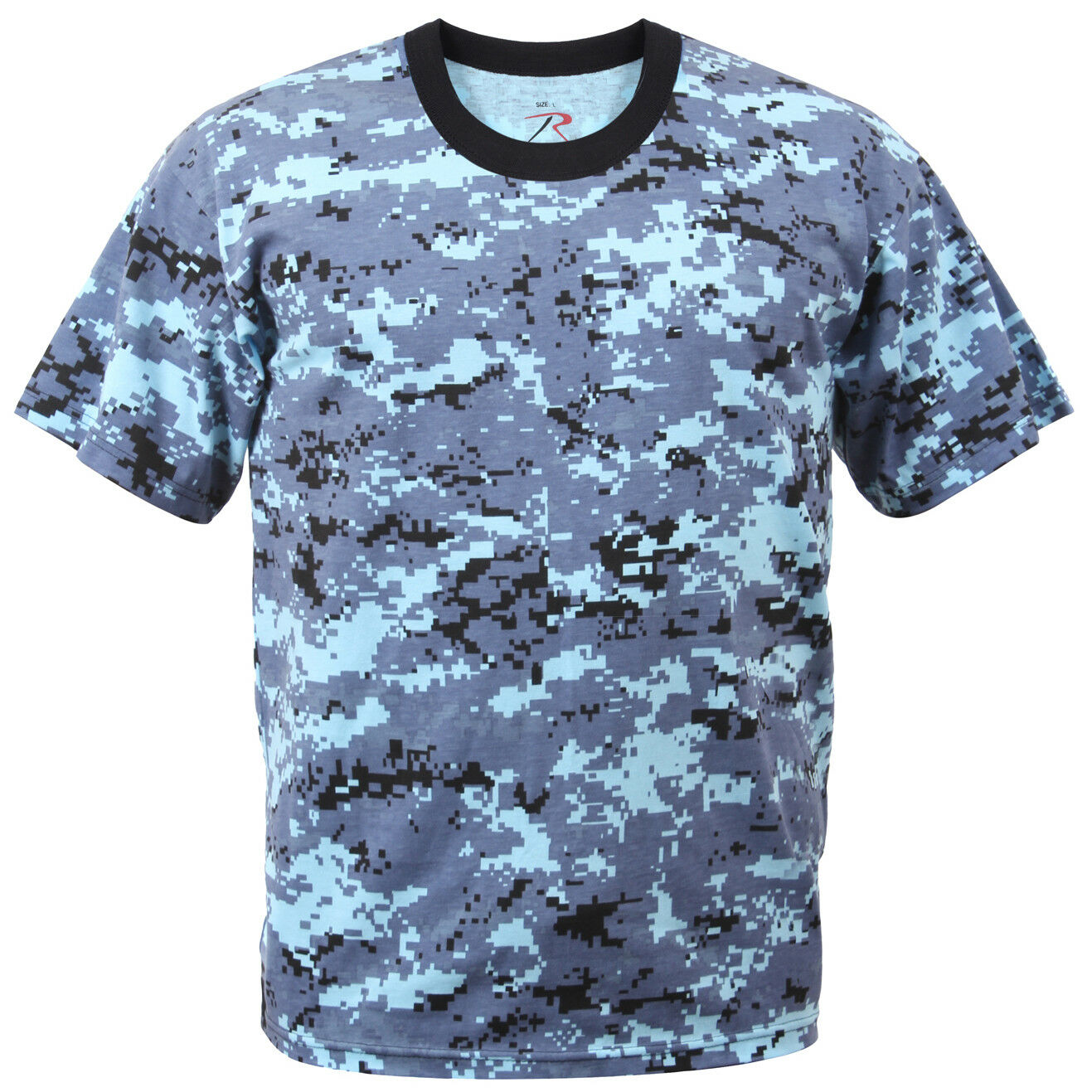 bluee Camo T-shirt Sky bluee Digital Camouflage Cotton Polyester Blend redhco 8947