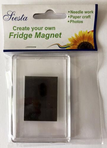 Papercraft foto Etc Siesta Frames Plástico Vacío FRIDGE MAGNET Para Costura