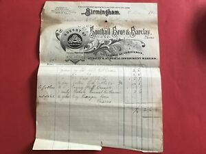 Southall Bros and Barclay Druggists 1904 Birmingham Illustrated  receipt R33143