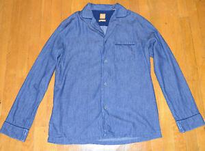 Hugo-Boss-Mens-Blue-Denim-Regular-Fit-Casual-Shirt-Medium