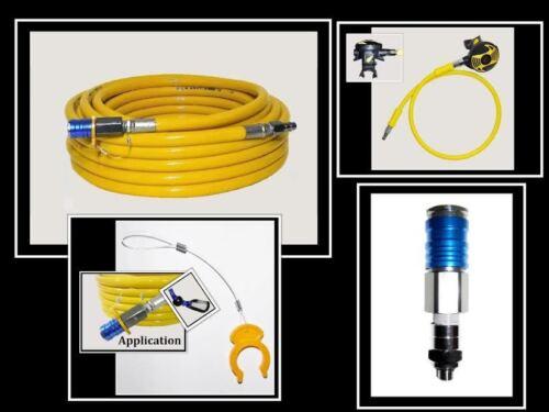 50/' Elite Hookah to SCUBA hose w// Cressi 2nd stage regulator /& 1st stage adapter