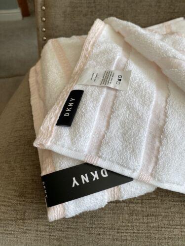 Towels Washcloths Dkny White Pink Striped Dogwood Hand Towel Bath Cotton Home Furniture Diy