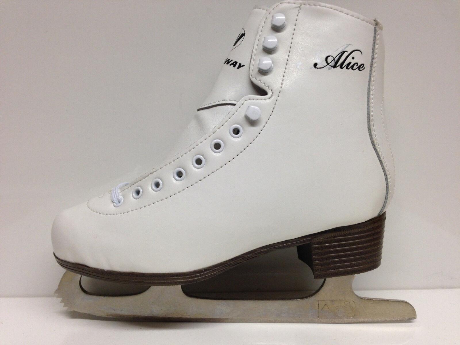 Alice Eislaufschlittschuhe Gr. 35 Kinder Schlittschuh weiss Eiskunstlauf - Sale