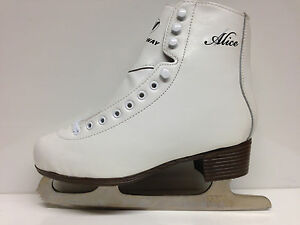 Alice-Eislaufschlittschuhe-Gr-35-Kinder-Schlittschuh-weiss-Eiskunstlauf-Sale