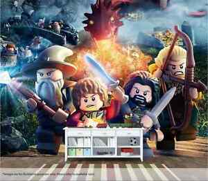 Lego Hobbit Wall Mural Wall Art Quality Pastable Wallpaper Decal ...