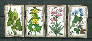 ALEMANIA-RFA-WEST-GERMANY-1978-MNH-SC-B553-B556-Woodland-flowers