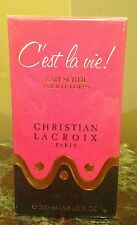 NIB C'EST LA VIE CHRISTIAN LACROIX PERFUMED BODY LOTION 6.8 OZ / 200  Rare vinta