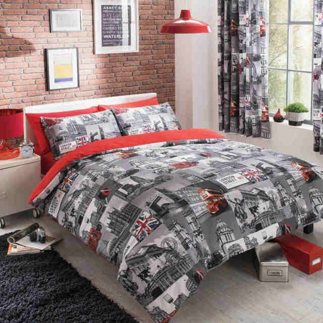London City Duvet Cover Quilt Cover Bedding Set Single Double King Superking