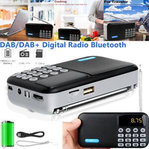 USB Digital Tragbare DAB/DAB+FM Radio +Akku Bluetooth4.2 Lautsprecher MP3 Player