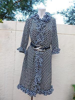 MARNI  WINTER  2011 GORGEOUS POLKA DOTS RUFFLED DRESS SHIRT NWT $1825 SZ 38