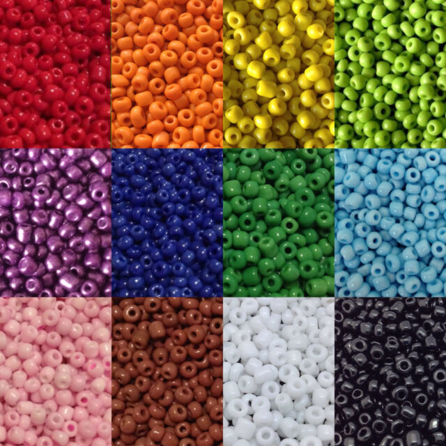 approx 3mm 50g glass seed beads size 8//0 Purple Transparent Lustered