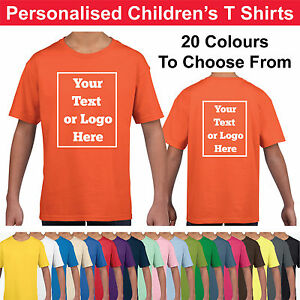 Personalised-Childrens-T-Shirts-Printed-Kids-Childs-T-Shirt-Tee-Shirt-Photo