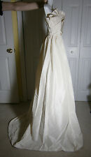J. CREW WEDDING GOWN SILK STRAPLESS IVORY SIZE 2 SAMPLE ONE OF A KIND TRAIN