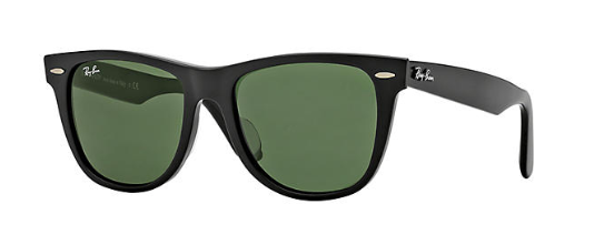 46f857154a4 New Ray Ban Org Wayfarer 2140F 901S MatteBlack-Green Classic size 52mm