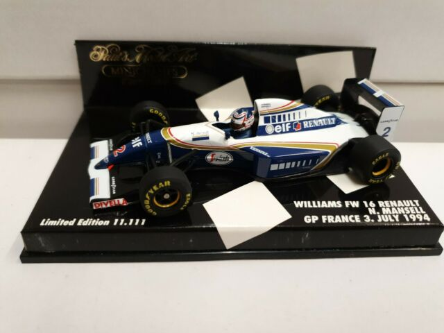 Minichamps Escala 1/43 430 940102 Williams FW16 Renault-Mansell Grand Prix de Francia 1994