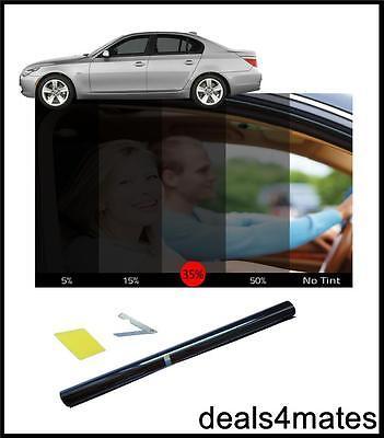 "Window Tint Film Le Tinte Kit Fumo Nero 35% 75cm X 300cm 9'10""x 2' 6"" Kit Fai Da Te- Prezzo Moderato"