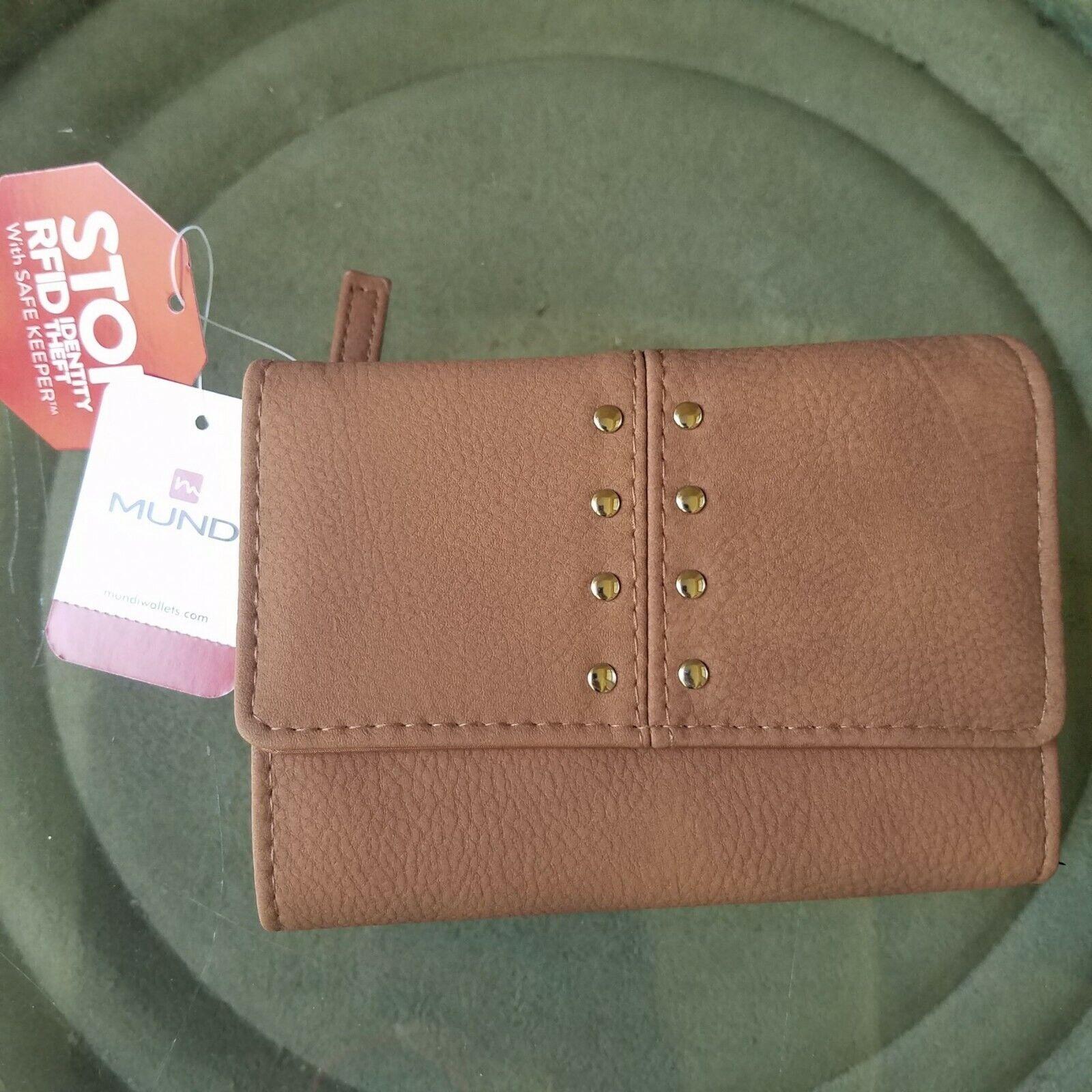 Mundi Wallet Safekeeper RFID Blocking Small Brown