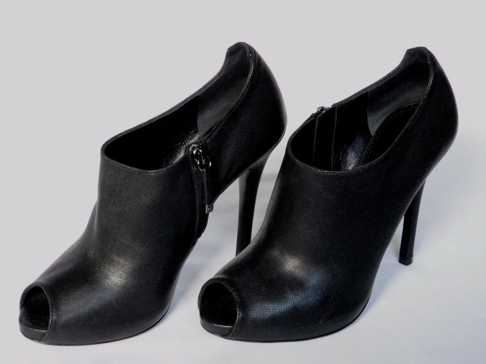 comodamente NUOVO Donna Ralph Lauren Scarpa Scarpa Scarpa in pelle nera Jassie avvio EU 40 US 10  alta qualità generale