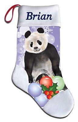 Bear Christmas Stocking.New Personalized Giant Panda Bear Christmas Stocking Embroidered Ebay