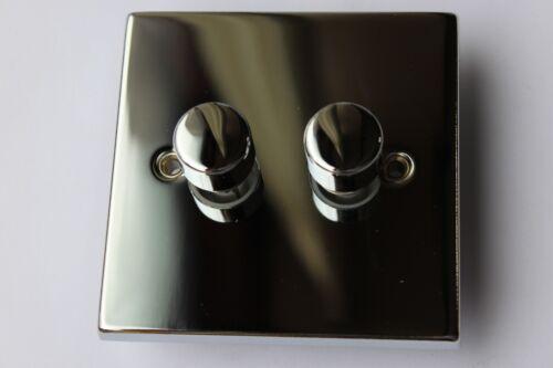 Obtenez wickes die cast variateur 2G 2 voies 60-250w poussoir on//off rotary chrome poli