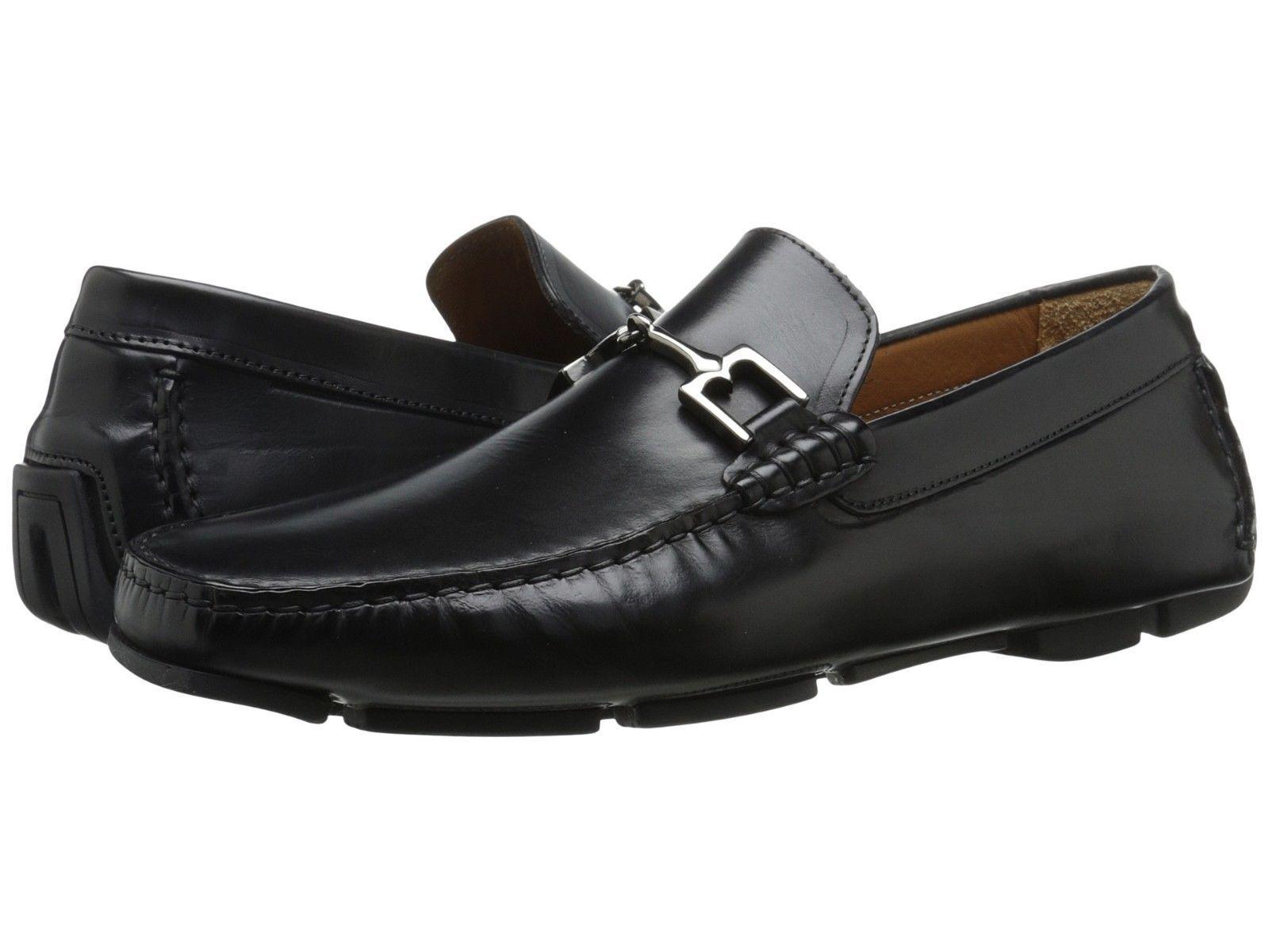 autorizzazione ufficiale Bruno Magli Uomo Monza nero Leather Leather Leather Bit Handmade Italian Loafer Dress Shoe  outlet in vendita