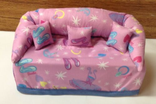 Barbie Fabric  Sofa Couch Tissue Box Cover With Little Pillows