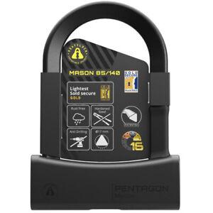 Free Frame Mount Seatylock Mason U-Lock BLACK 140mm Sold Secure Gold Bike Lock