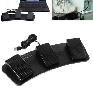USB-Triple-Action-Foot-Switch-Pedal-Control-Keyboard-Mouse-PC-for-Playing-Games