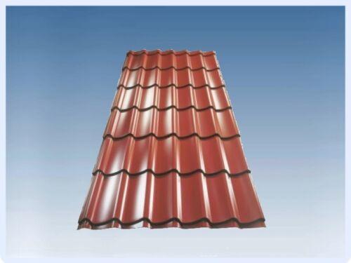 Pfannenblech Profilblech Dachpfannenprofil Dachblech Ziegeloptik 1,18m Länge