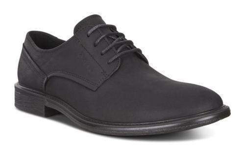 Hommes ECCO 601554 KNOXVILLE Plain Toe Gore-Tex Cuir Nubuck Noir USA7-7.5 E41