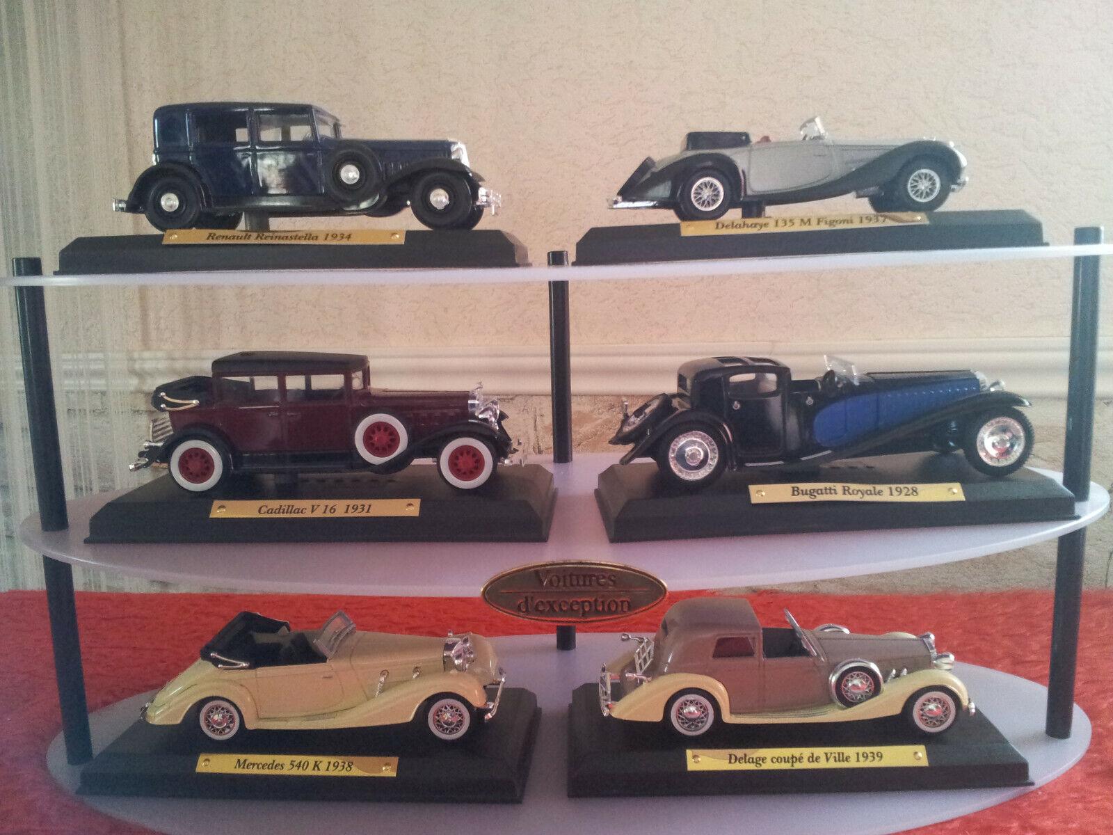 Lot de 6 voitures d'exception de 1925 à 1940  NEUVE